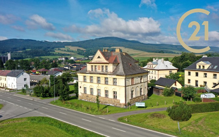 Prodej prvorepublikové vily, 690m², Červená Voda