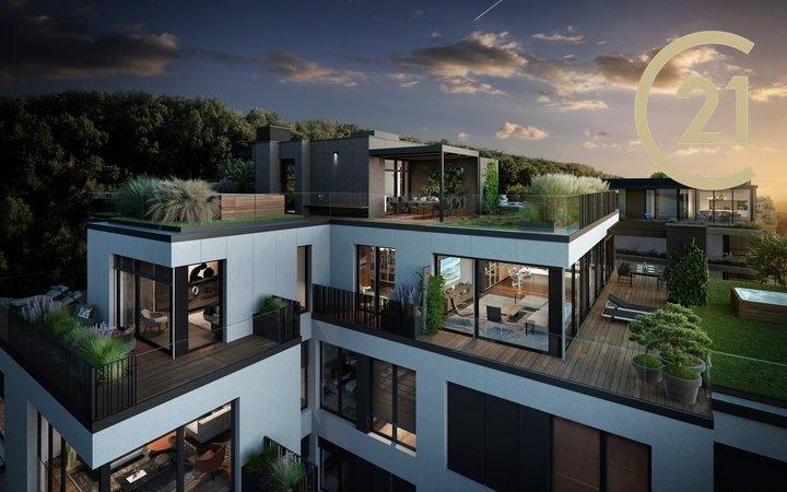Prodej Penthausu 5+kk/4G, 191 m² + 394 m² terasa - Top Rezidence Pomezí - Praha 5