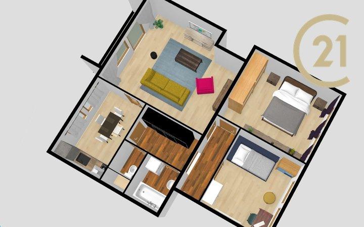 Prodej bytu 3+1, balkon, sklep, půda, 160m² - Chýně