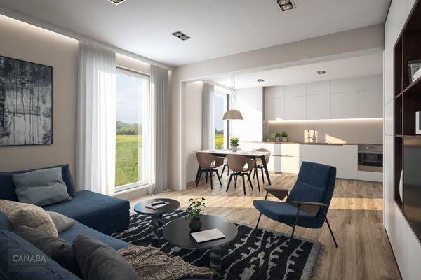Prodej nového bytu 1+kk/parkovací  stání/sklep, 37m2, ul. Bryksova, Praha – Černý Most.  3.569.000,-