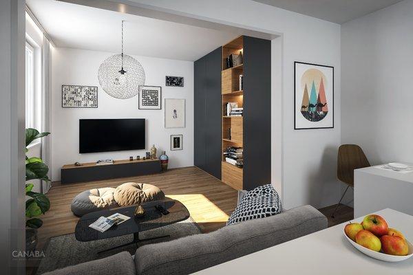 Prodej moderního bytu 1+kk /garáž/sklep, 33 m2, ul. Bryksova, Praha – Černý Most. 3.319.000,-
