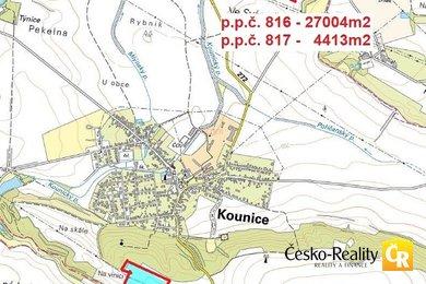 Prodej, Zemědělská půda, 93958m² - Kounice, okr. Nymburk, Ev.č.: 00157