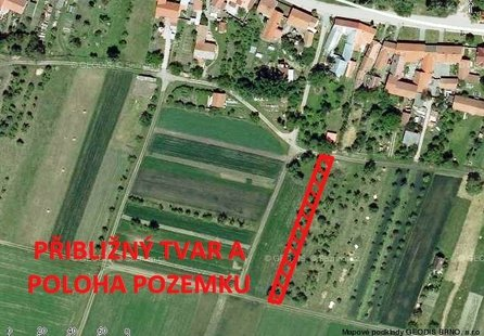 Prodej pozemku v lokalitě Kovalovice, okres Brno-venkov - obrázek č. 1