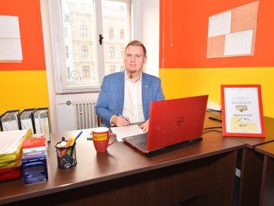 Takto vypadá moje kancelář.