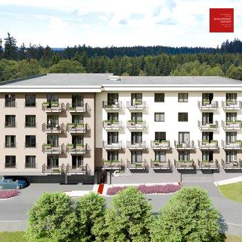 Prodej bytu 1+kk v novém developerském projektu Green Garden Mariánské Lázně | 30 m2 + balkon 4 m2