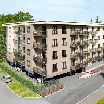 Prodej bytu 1+kk atelier v novém developerském projektu Green Garden Mariánské Lázně | 61 m2 + balkon 4 m2