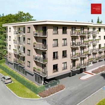 Prodej bytu 2+kk v novém developerském projektu Green Garden Mariánské Lázně 53 m2 + balkon 4 m2