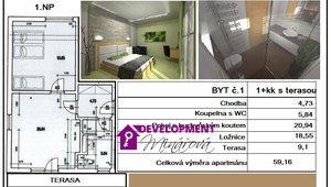 Prodej, Atypické byty, 2+kk , 59m²