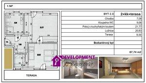 Prodej, Atypické byty, 2+kk , 68 m²