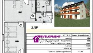 Prodej, Atypické byty, 2+kk, 53 m²