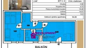 Prodej, Atypické byty, 2+kk , 54 m²
