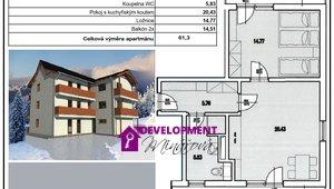 Prodej, Atypické byty,2+kk - 61 m²