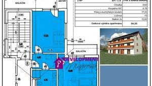 Prodej, Atypické byty, 2+kk - 54m²