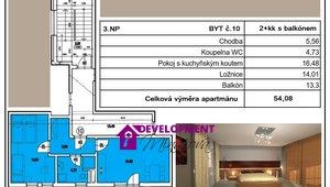 Prodej, Atypické byty, 2+kk - 54,08 m²