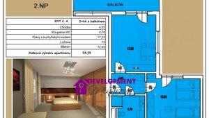 Prodej, Atypické byty, 54,55 m²