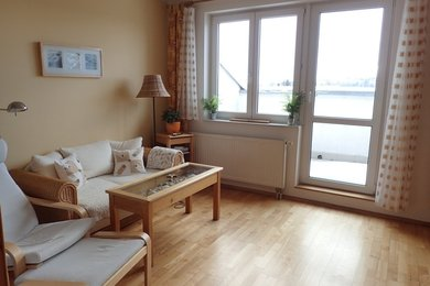 Byt 3,5+1 v půdní nástavbě na panelovém domě, se dvěma lodžiemi a terasou, Ev.č.: DR1B 31291R