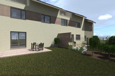 Byt 3+kk  se zahradou 120 m2, parkovacím stáním ve dvoře domu a sklepní místností v novostavbě bytového domu Přísnotice - Výhon, Ev.č.: DR1BD 30BJ1R