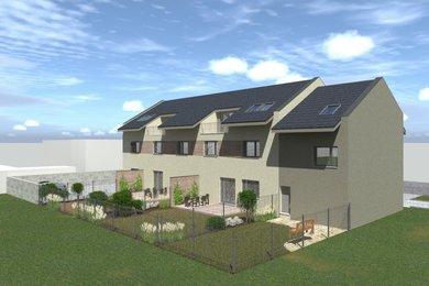 Byt 4+kk  se zahradou 102 m2, parkovacím stáním ve dvoře domu a sklepní místností,v novostavbě bytového domu Přísnotice - Výhon, Ev.č.: DR1B 402661R