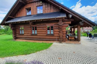 Prodej srubu na Vysočině, vhodného k trvalému bydlení i k rekreaci, obec Radešínská Svratka, Ev.č.: DR1D 112R