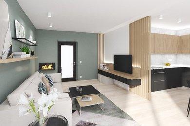 Byt 3+kk  s terasou 11,7 m2, parkovacím stáním ve dvoře domu a sklepní místností, v novostavbě bytového domu Přísnotice - Výhon, Ev.č.: DR1B 30BJ04R