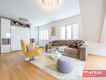 Prodej pěkného půdního bytu 2+1 /80m²/, Praha 10 - Vršovice