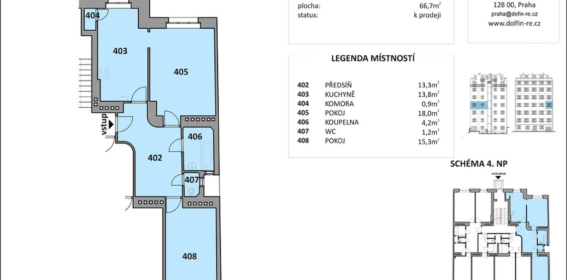 Sale, Flats 3+KT, 67m² - Praha