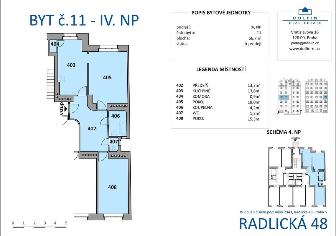 Продажа, 2-х комнатные квартиры (3+кк), 67m² - Praha