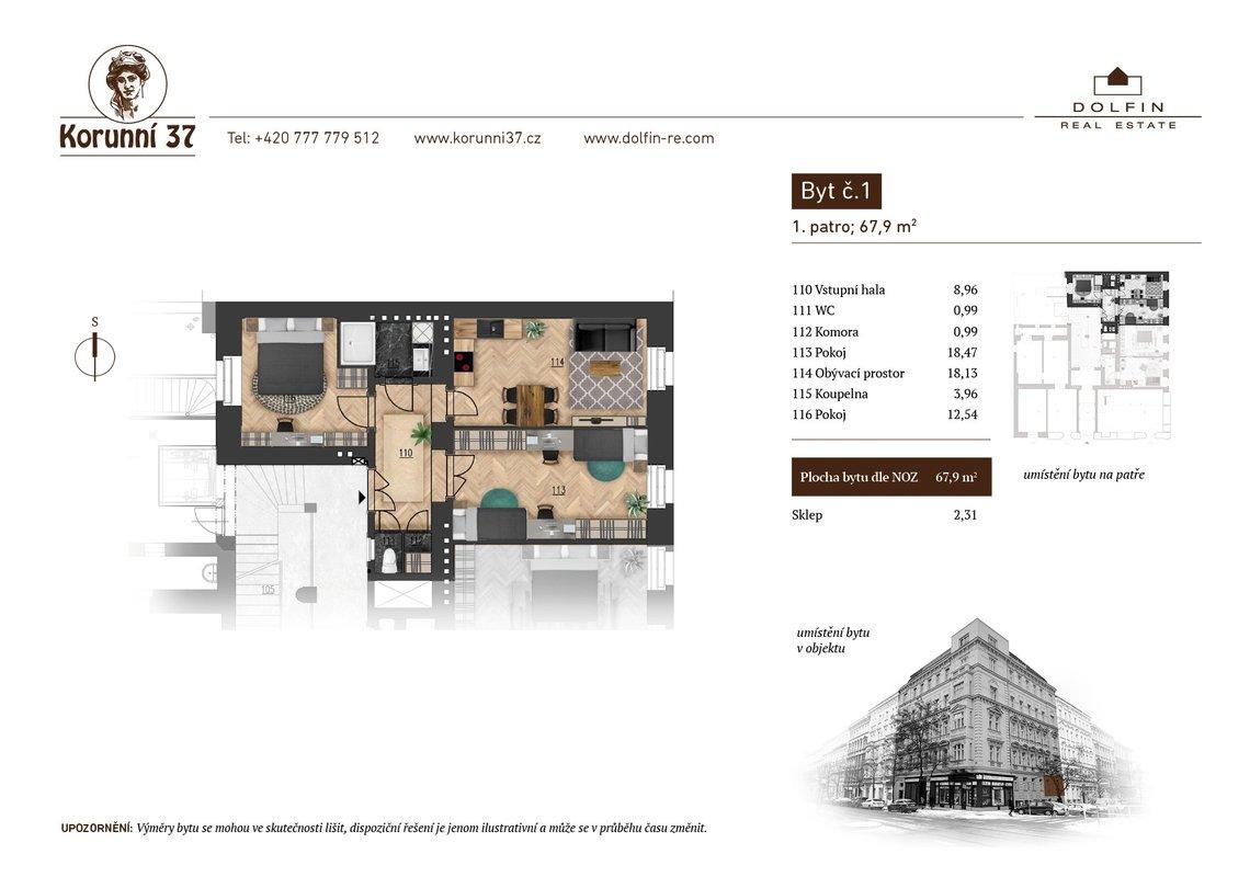 Prodej, Byty 2+1, 0m² - Praha - Vinohrady - Praha 2