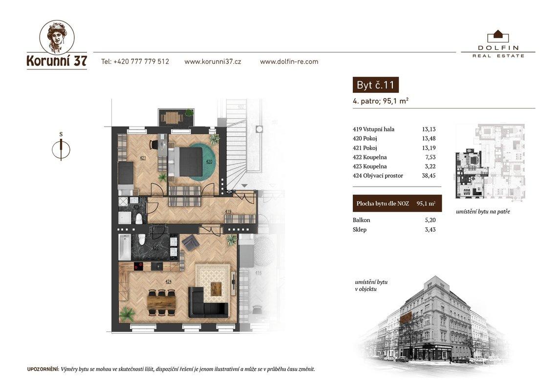 Prodej, Byty 3+kk, 0m² - Praha - Vinohrady - Praha 2