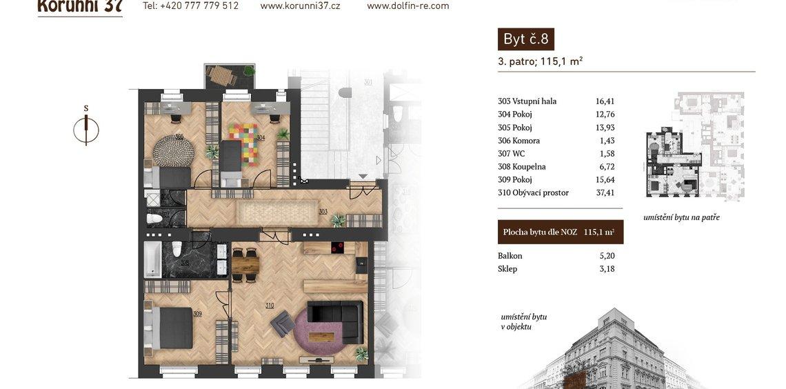 Prodej, Byty 3+1, 0m² - Praha - Vinohrady - Praha 2
