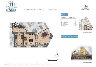 Prodej bytu 3kk, 104,91 m2, ul. Na Švihance - Vinohrady, Praha 2