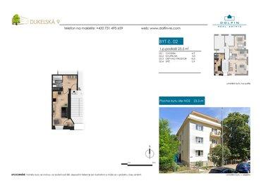 Продается квартира 1+kk, 23,5 m², ul. Dukelská