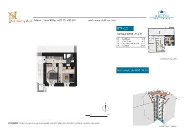 Продается квартира 2+kk, 39,2 м², ул. Na Zámyšli