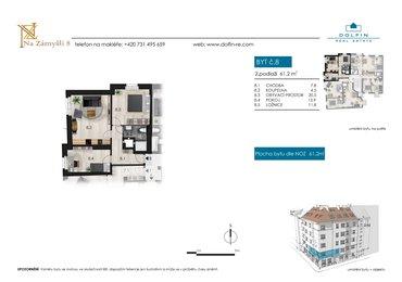 Flat for sale 3+kk, 61,2 m², st. Na Zámyšli