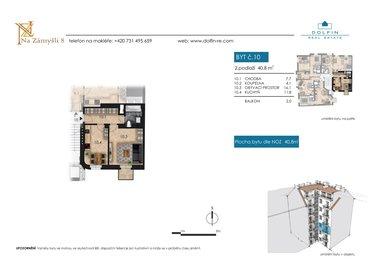 Продается квартира 2+kk, 40,8 м², с балконом, ул. Na Zámyšli