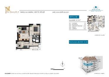 Flat for sale 3+kk, 61,5 m², st. Na Zámyšli
