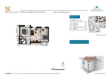 Flat for sale 3+kk, 59,1 m², st. Na Zámyšli