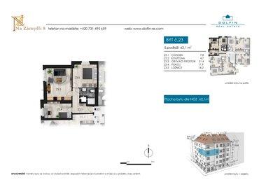 Продается квартира 3+kk, 62,1 м², ул. Na Zámyšli