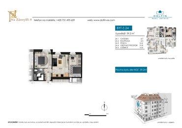 Flat for sale 3+kk, 59,2 m², st. Na Zámyšli