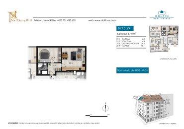 Flat for sale 2+kk, 57 m², st. Na Zámyšli