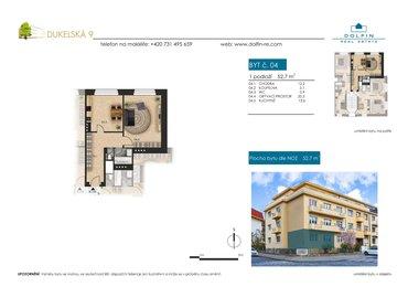 Продается квартира 1+1, 52,7 м², ул. Dukelská