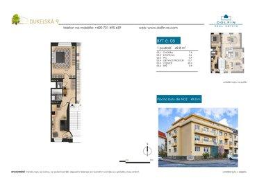 Продается квартира 1+1, 49,8 м², ул. Dukelská
