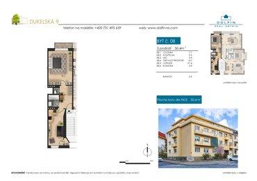 Продается квартира 1+1, 50,4 м², ул. Dukelská