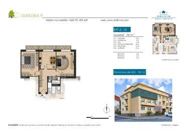 Продается квартира 2+1, 78,1 м², ул. Dukelská