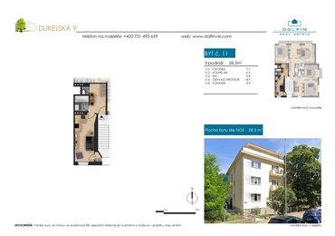Продается квартира 1+kk, 28,3 м², ул. Dukelská