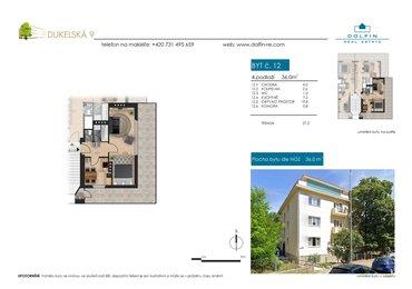 Flat for sale 1+1, 36 m², ul. Dukelská
