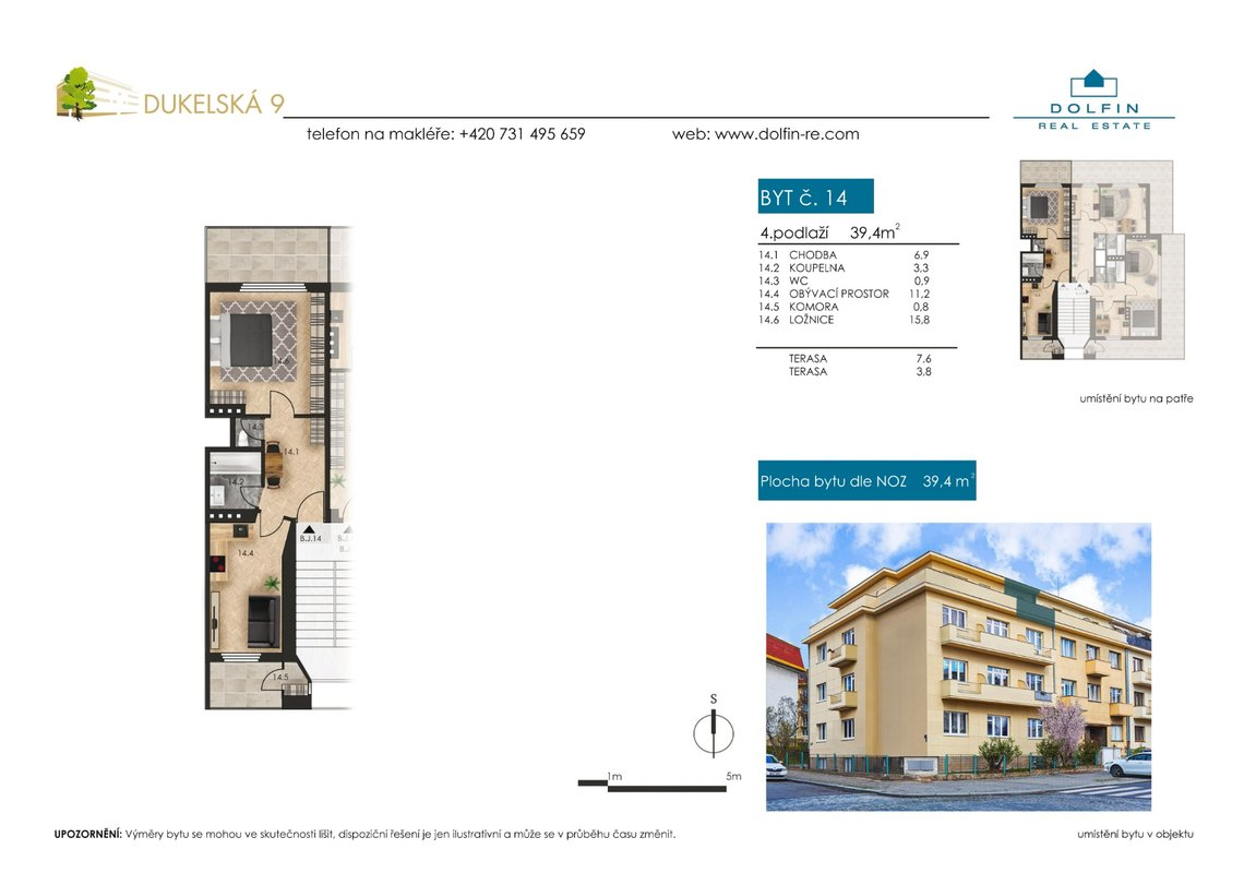 Flat for sale 2+kk, 39,4 m², ul. Dukelská