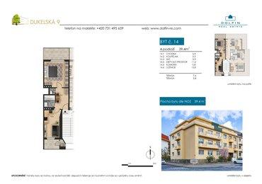 Продается квартира 2+kk, 39,4 м², ул. Dukelská