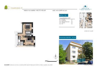 Flat for sale 2+kk, 41,5 m², ul. Dukelská