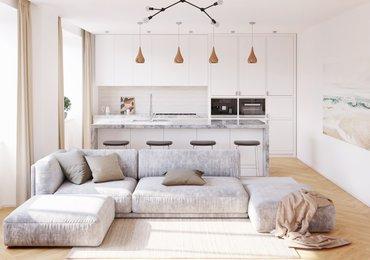 Prodej bytu 1+kk s balkonem, 42,8 m², ul. Londýnská 56